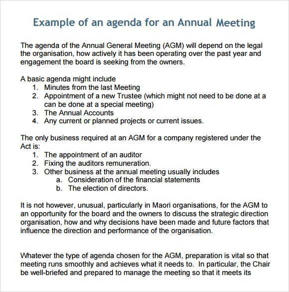 Format For An Agenda Free Meeting Agenda Template Sample Meeting - sample meeting agenda 2