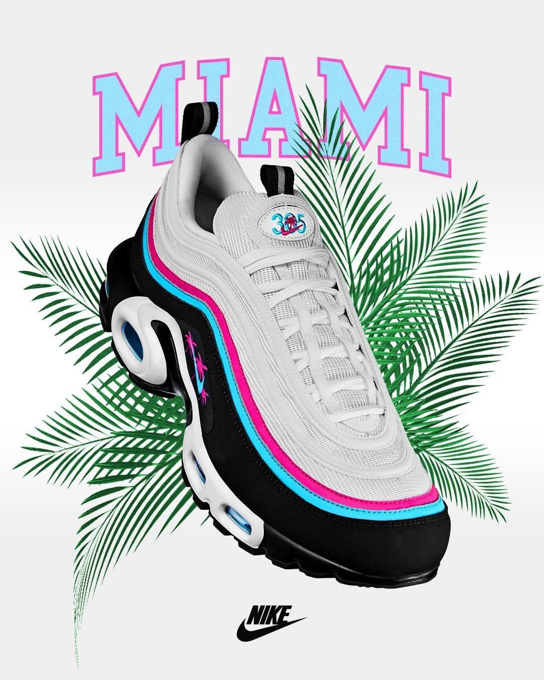 Nike air Max plus '97 away Miami | Nike air max, Air max
