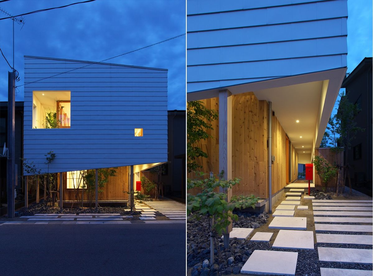 Like a lot of other modern Japanese houses, this one is small.