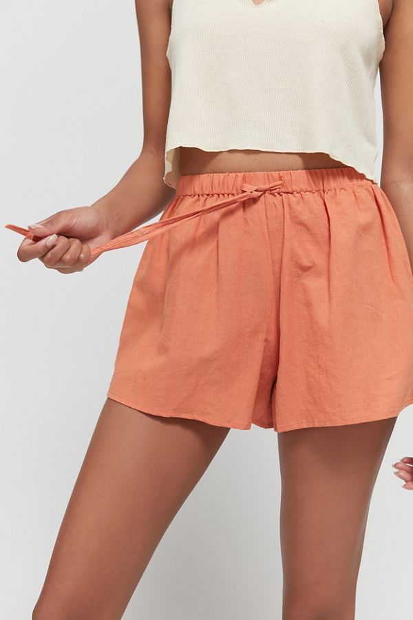 Charlie Holiday Harlow Linen Drawstring Short
