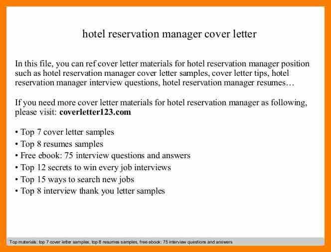 Hotel Cover Letter Sample - Twenty.Hueandi.Co
