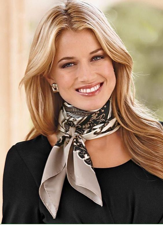 Cute blonde hair and scarf