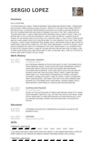job description for personal banker