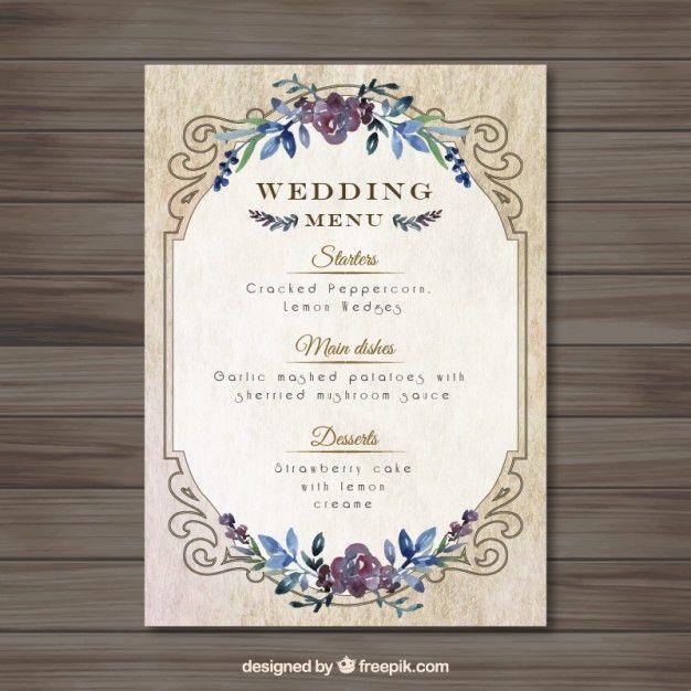 Wedding Menu Template 27 Wedding Menu Templates Free Sample - sample menu template