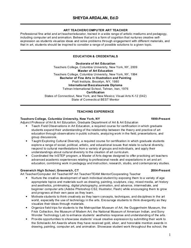 sample art teacher resume node2004resumetemplatepaasprovidercom