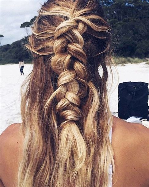 """The half-up French braid <a class=""""pintag"""" href=""""/explore/BraidedHairstyles/"""" title=""""#BraidedHairstyles explore Pinterest"""">#BraidedHairstyles</a><p><a href=""""http://www.homeinteriordesign.org/2018/02/short-guide-to-interior-decoration.html"""">Short guide to interior decoration</a></p>"""