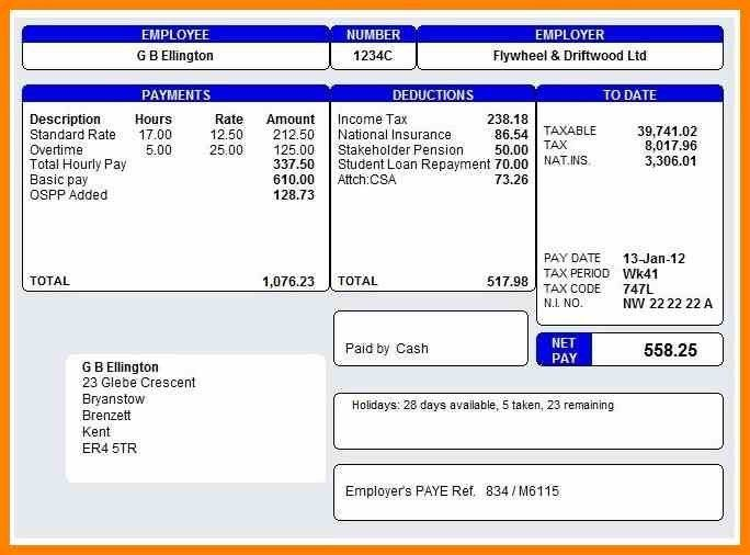 ... Basic Payslip Template Excel Top 5 Free Payslip Templates Word   Payslip  In Word Format ...  Payslip Template Word