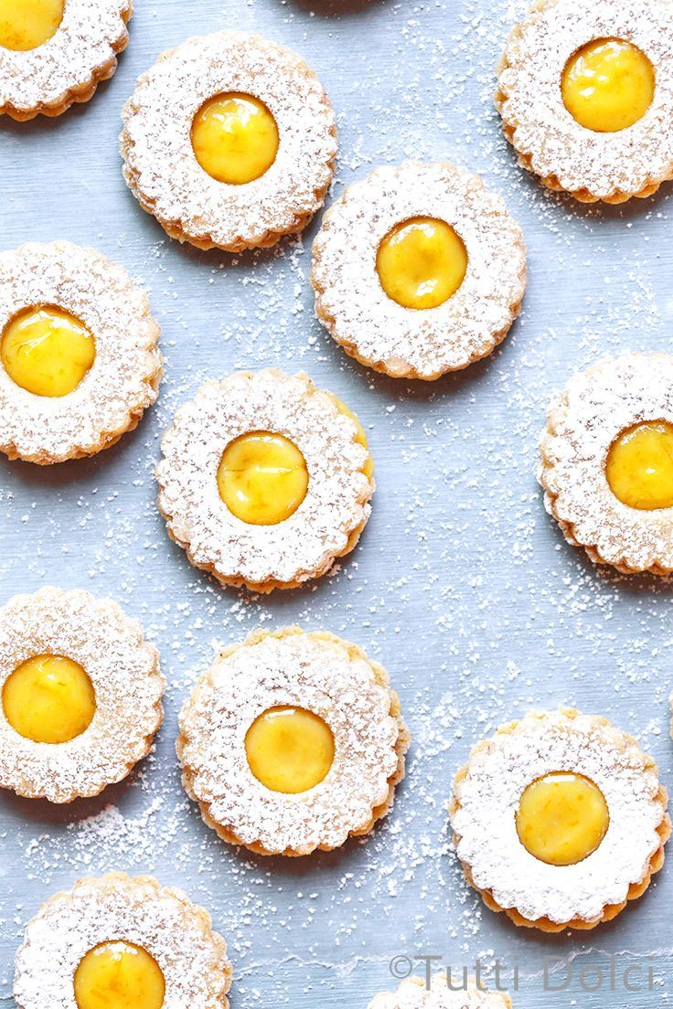 Citrus Curd Linzer Cookies | linzer cookies | linzer cookie recipes