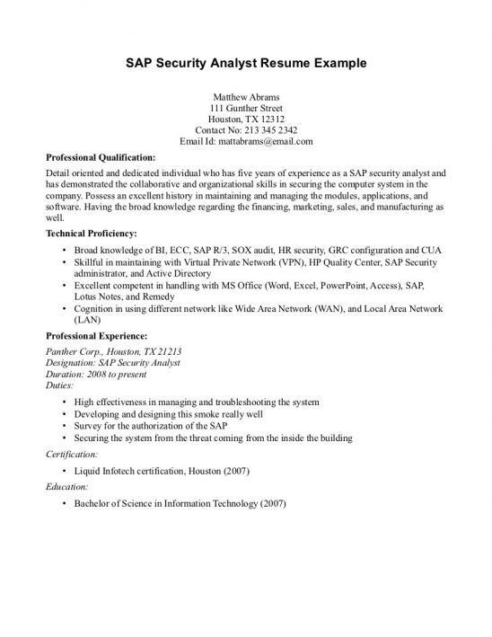 Information Security Consultant Resume] Information Security