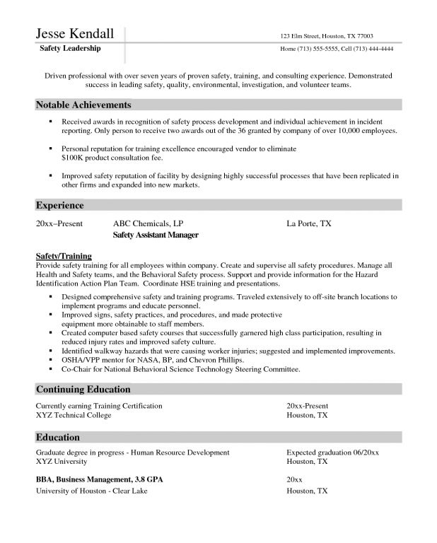 safety assistant sample resume top 8 safety assistant resume