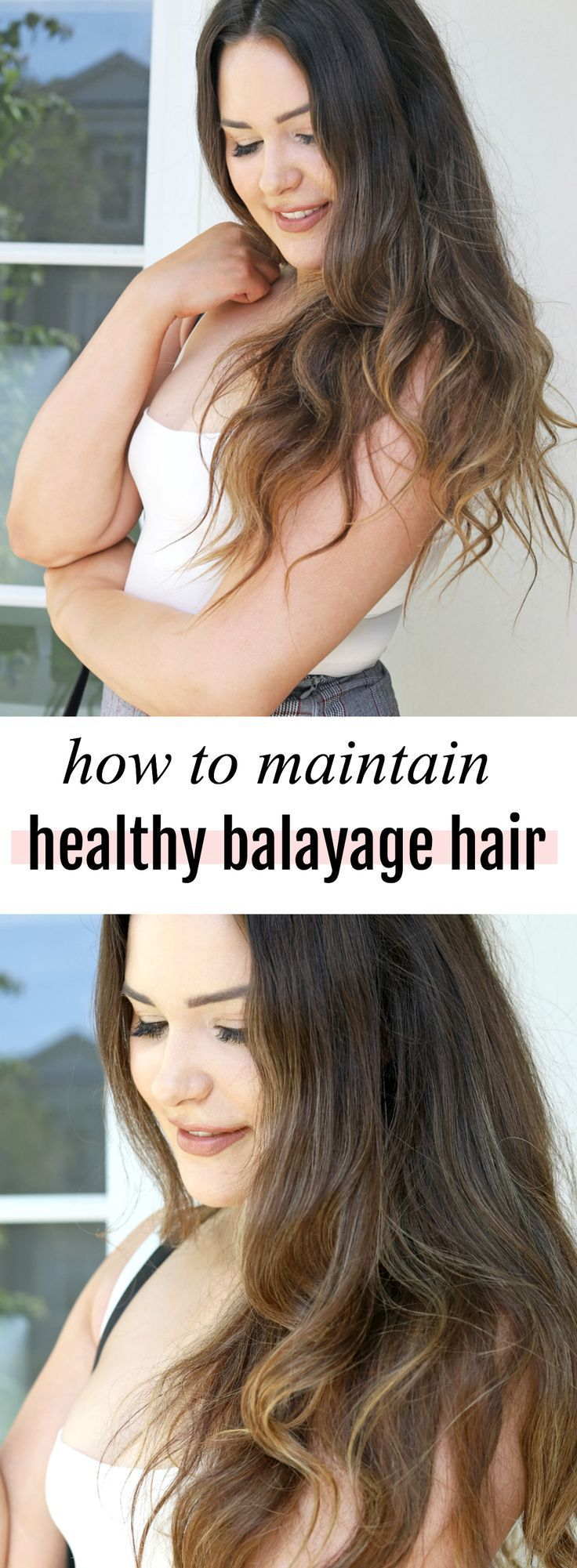 Beauty blogger Michelle Kehoe of Mash Elle shares easy, fast tips to grow long, healthy hair. Bleached hair can become damaged easily, so this guide will help you keep ombre, balayage, highlighted and colored hair long and healthy! #balayage #partialbalay