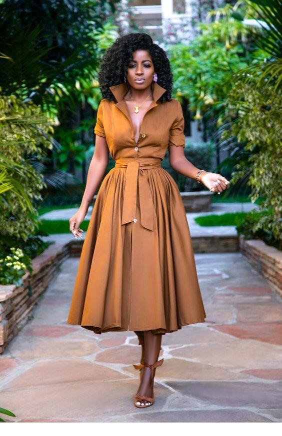 Awesome brown dress style