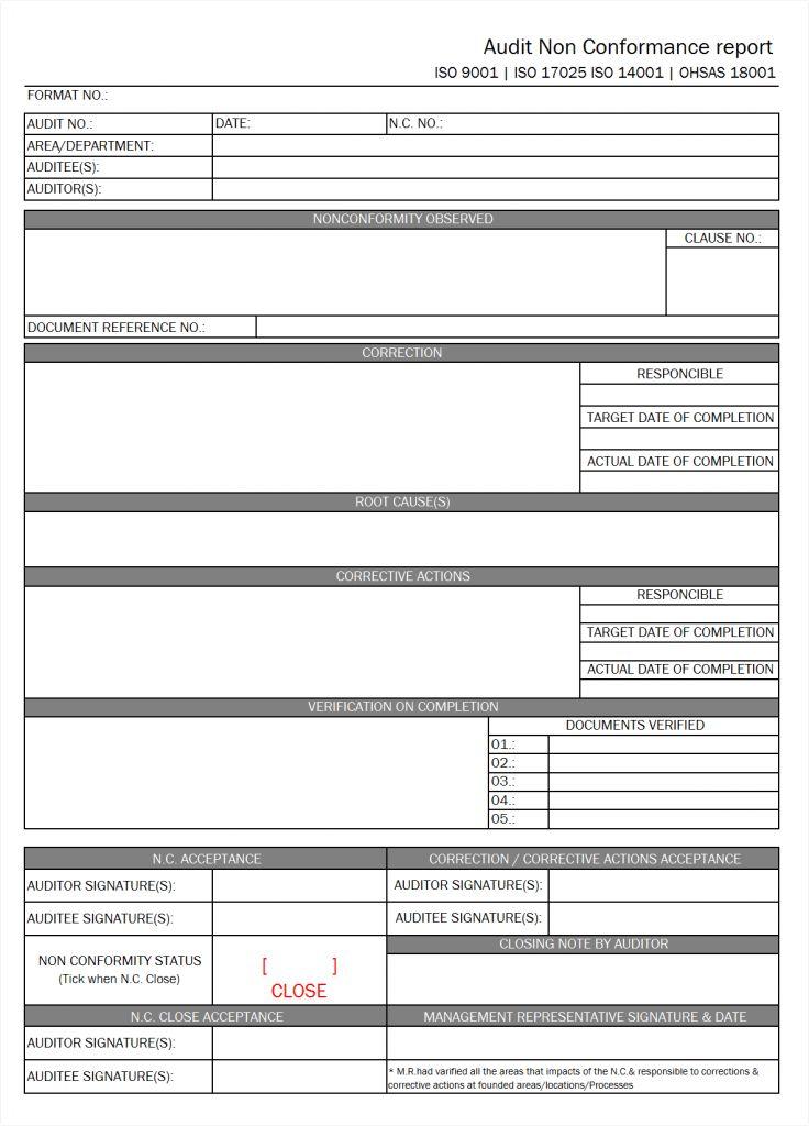 Audit Report Template Word 14 Internal Audit Report Templates - audit template word