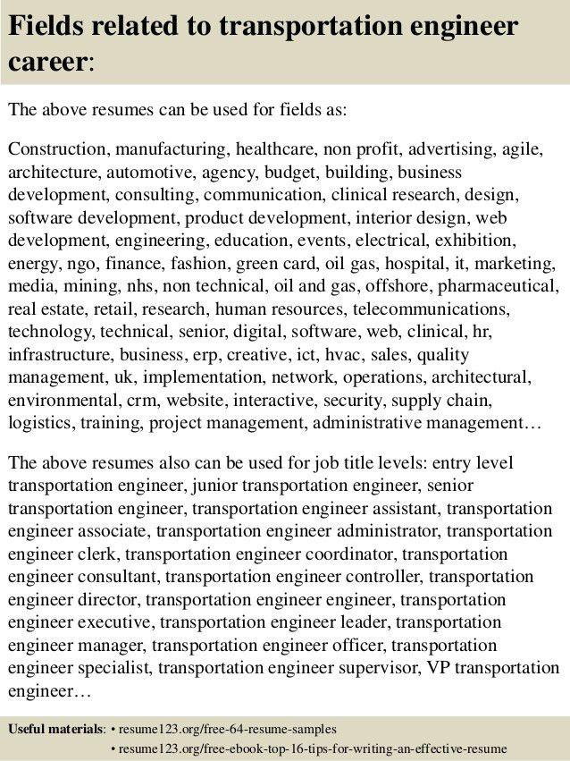 ... Transportation Engineer Cover Letter Transportation Engineer   Transportation  Consultant Cover Letter ...