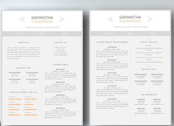 Two Page Resume Format 2 Page Resume Example 2 Page Resumes Two - 2 page resume template