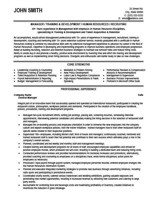 office manager recruiter resume