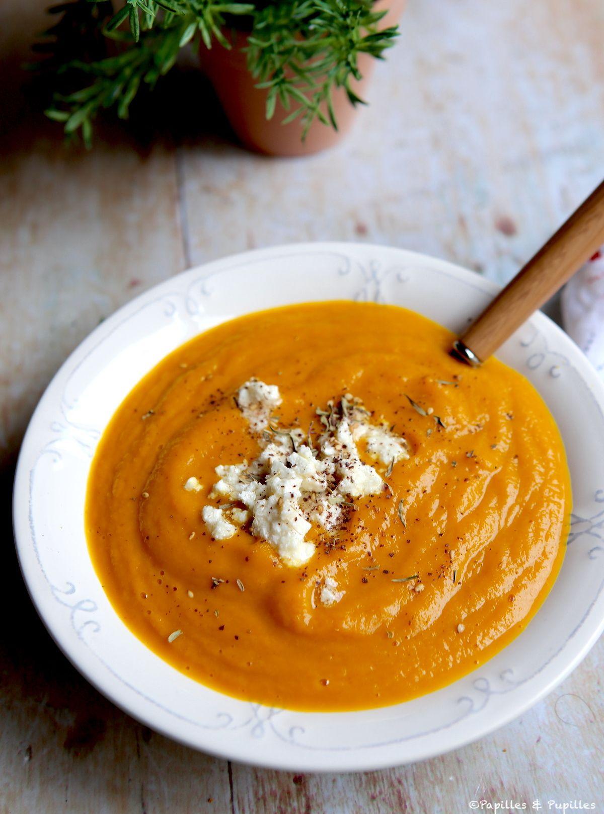 Soupe de carottes et feta