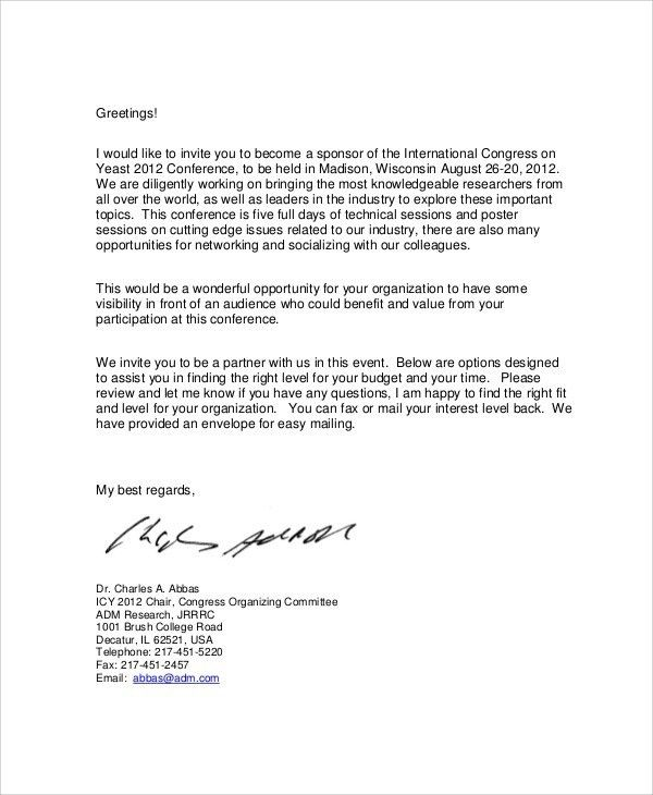 Sample Of Sponsorship Letter For Event Sample Event Sponsorship - event sponsorship letter sample
