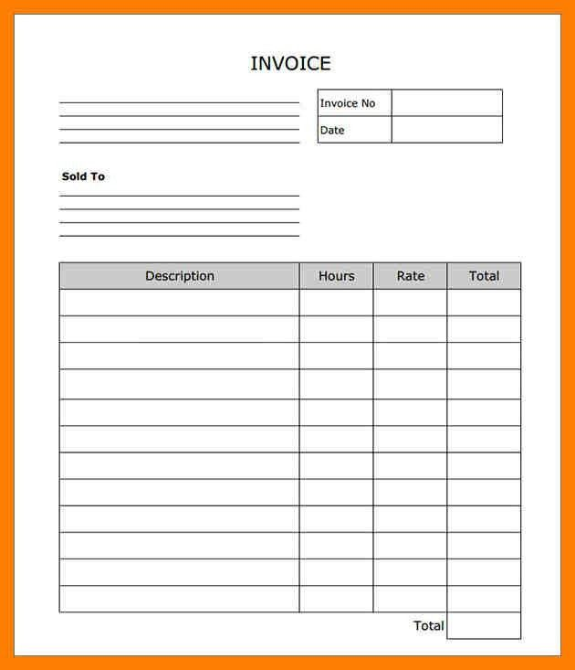 Uk Invoice Template Excel