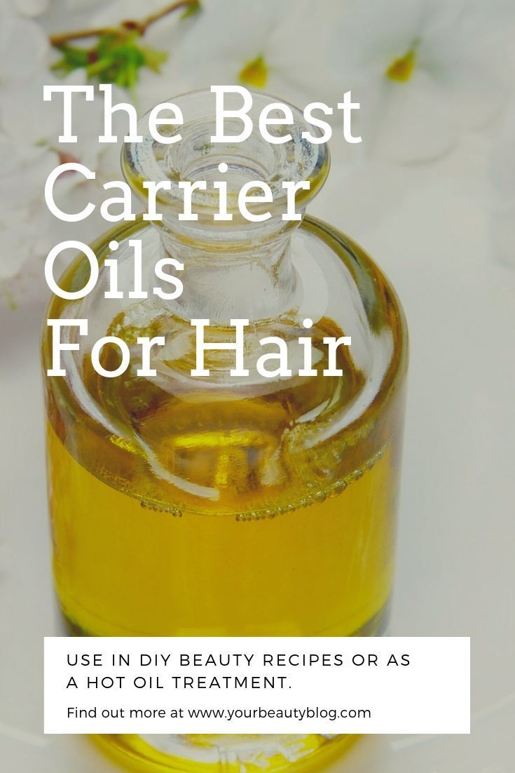 A list of carrier oils for hair. These can help with hair loss and hair growth. Learn the benefits of carrier oils and how to use them. What is a carrier oil? This is like carrier oil 101 with the best oils for natural hair care. Use them for DIY hair care, DIY bath and body recipes, and natural beauty. #carrieroils #hair