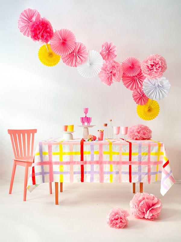 Gingham Tablecloth DIY
