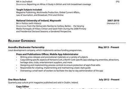 resume copies