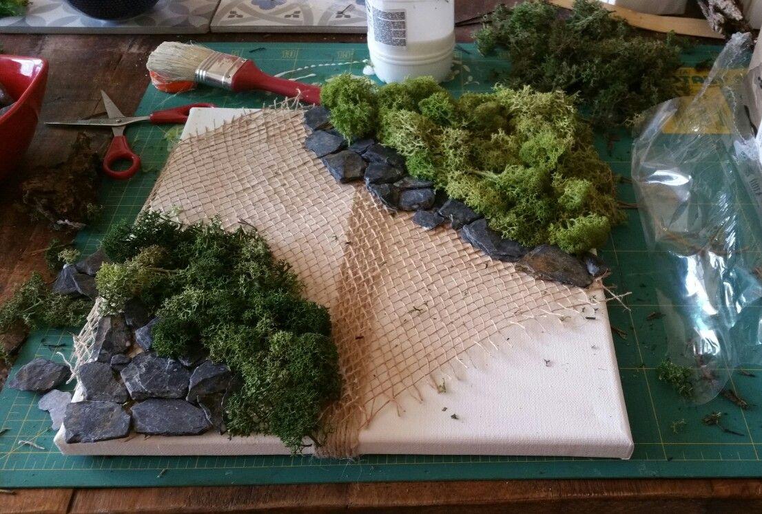 Comment Coller De L Ardoise idée déco toile à peindre 30x30cm colle à bois, mousse