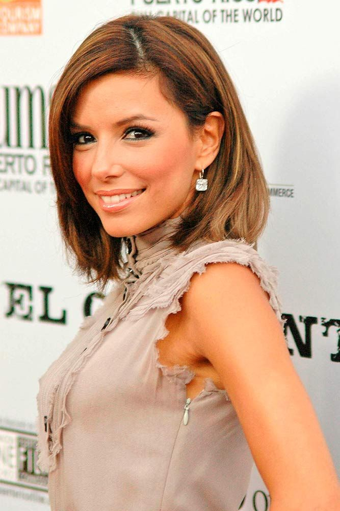 Side Swept Brown Lob #straighthair #brownhair #evalongoria ★ Shoulder length haircuts allow for many styling and coloring options. And if you would like to revive your shoulder length tresses without sacrificing the length, see our photo gallery with cool and popular looks for your medium hair. Believe us, you will not regret stopping by. #glaminati #lifestyle #shoulderlengthhaircuts