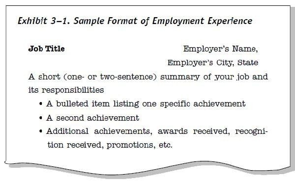 Example Of Resume Title  Examples Of Resumes