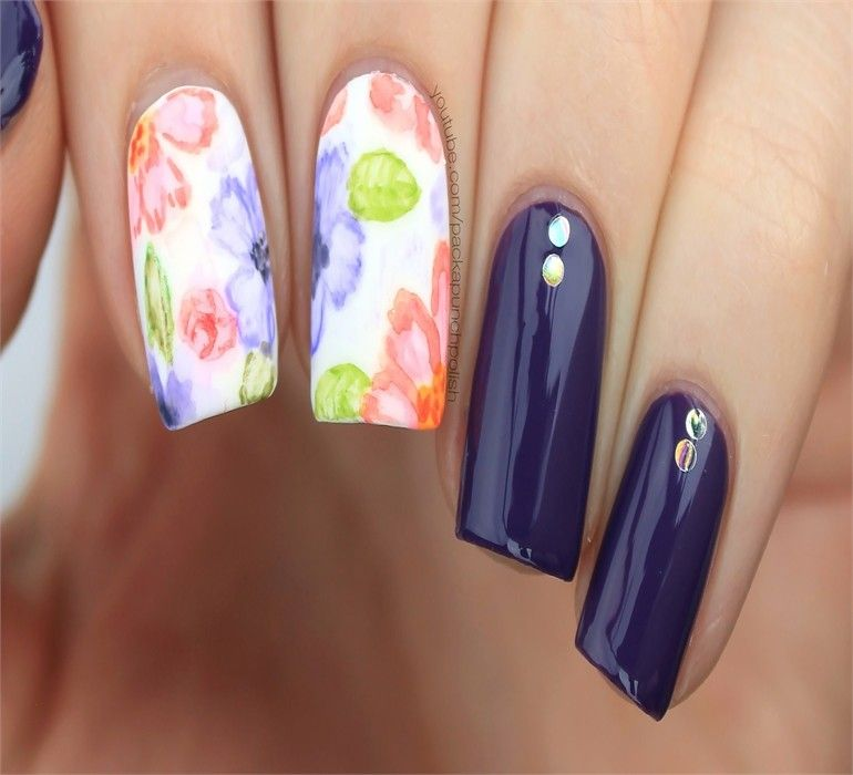30+ Watercolor Nail Art Ideas Trendy – Fashonails