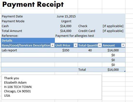 Sample Payment Receipt Payment Receipt Templates 9 Free Examples - payment receipt sample