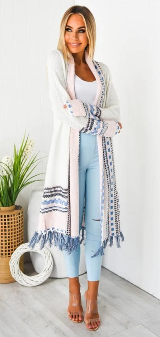 white cardigan #spring #outfits