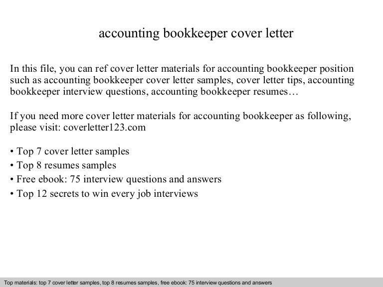 bookkeeper cover letter samples