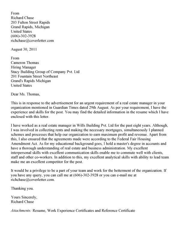 corporate real estate director cover letter download real estate stage manager resume