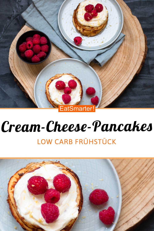 Cream-Cheese-Low-Carb-Pancakes - smarter - Kalorien: 306 kcal - Zeit: 5 Min. | eatsmarter.de #ketogenediät #rezepte #pancakes #lowcarb #frühstück