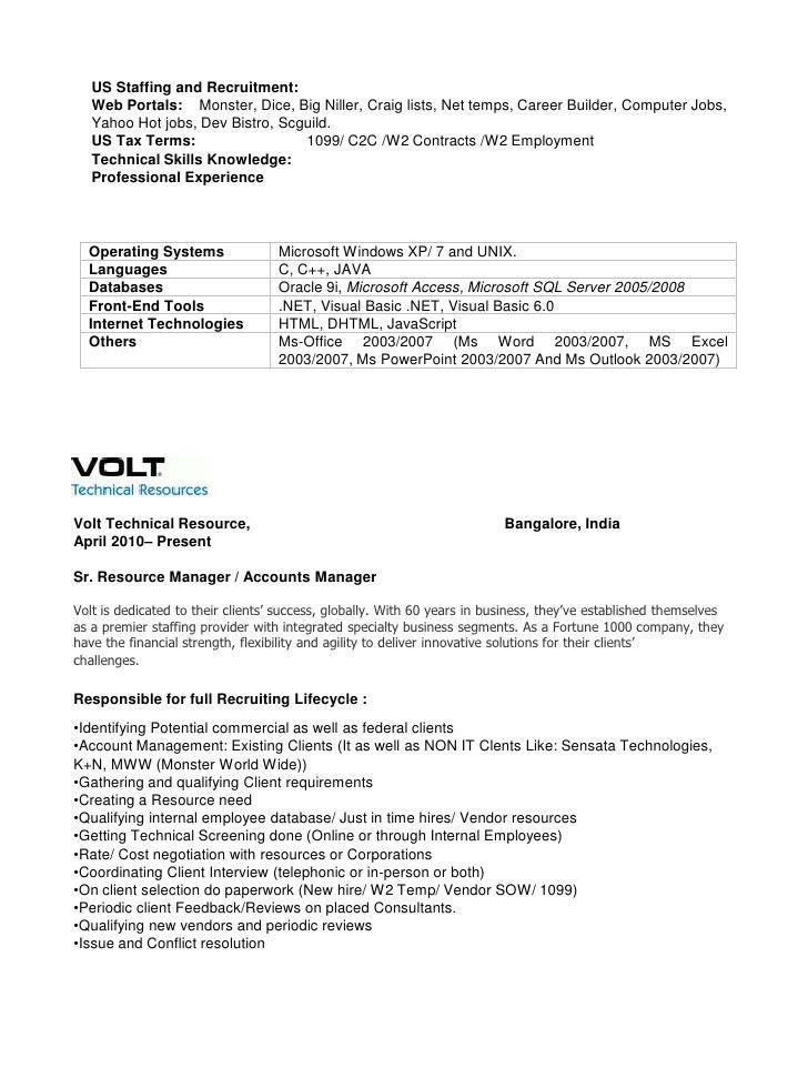 army recruiter resume