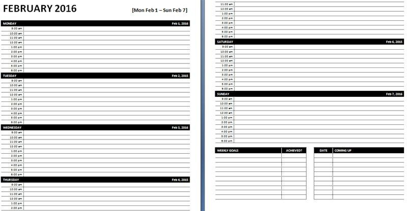 daily journal template word