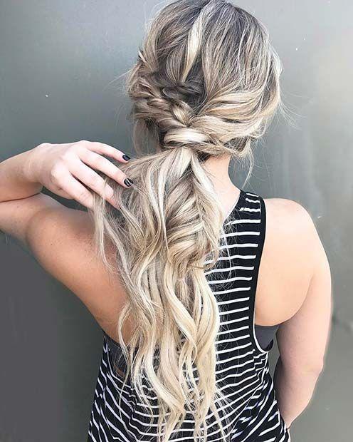 Braided Boho Ponytail for Elegant Ponytail Hairstyles