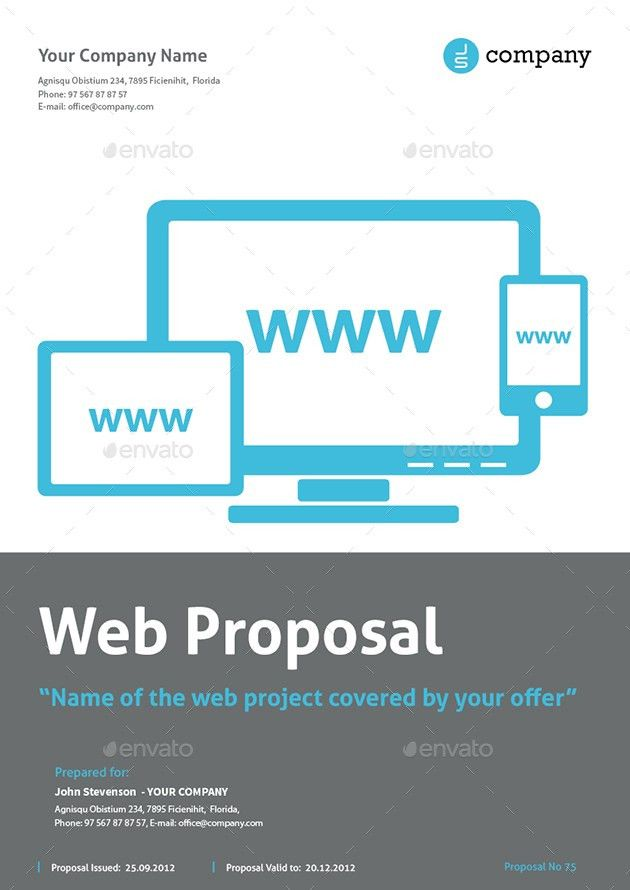 Website Design Proposal Template Word Sample Web Design Proposal - website proposal template
