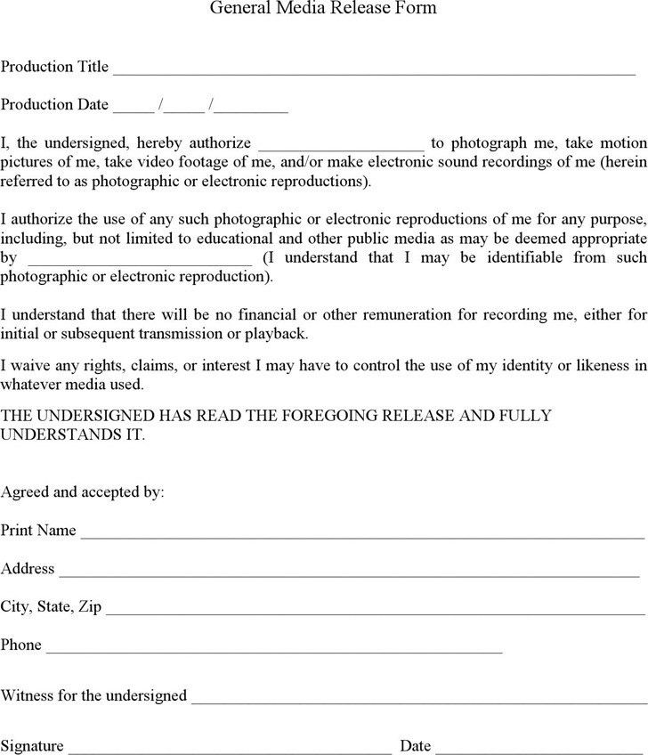... Waiver And Release Form Template Release Of Liability Form Waiver    Letter Of Release Form ...