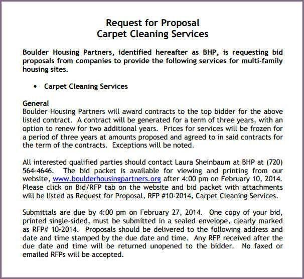 Bid Proposal Letter Bid Proposal Template Invitation To Bid - bid proposals
