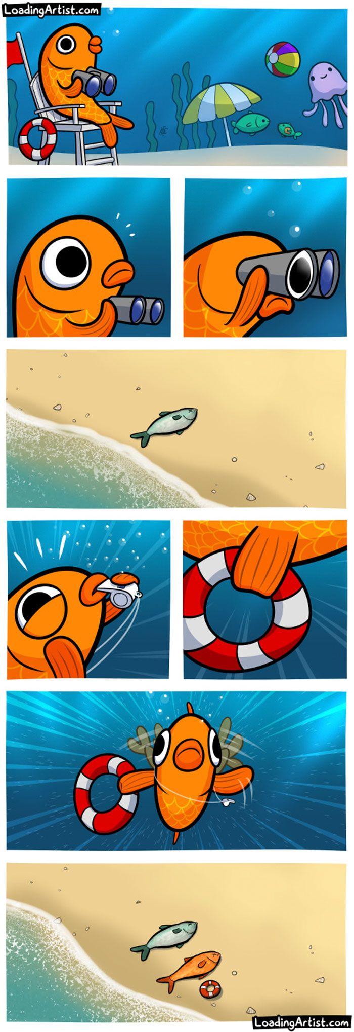 The fish lifeguard