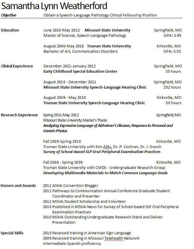 Speech Pathologist Cover Letter Speech Language Therapist Cover Speech  Language Pathology Resume .
