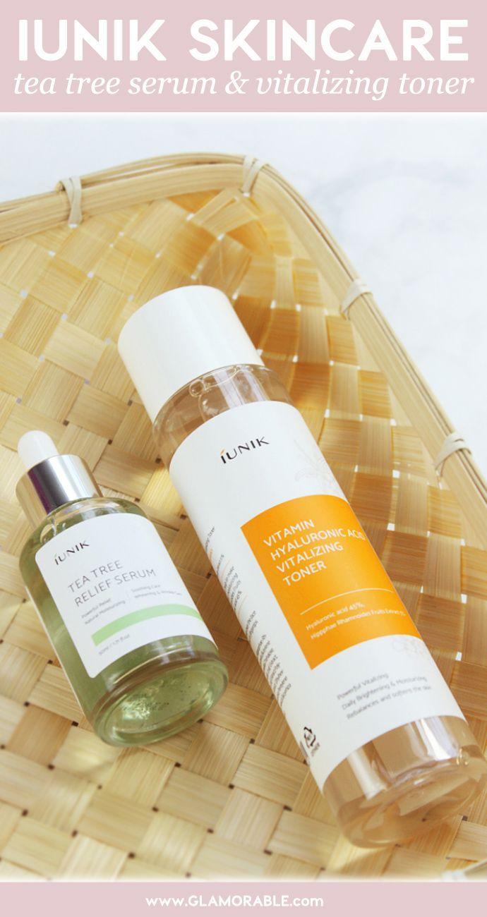 iUNIK Skincare Review:Vitamin Hyaluronic Acid Vitalizing Toner andTea Tree Relief Serum – via @glamorable #skincare #kbeauty #naturalbeauty
