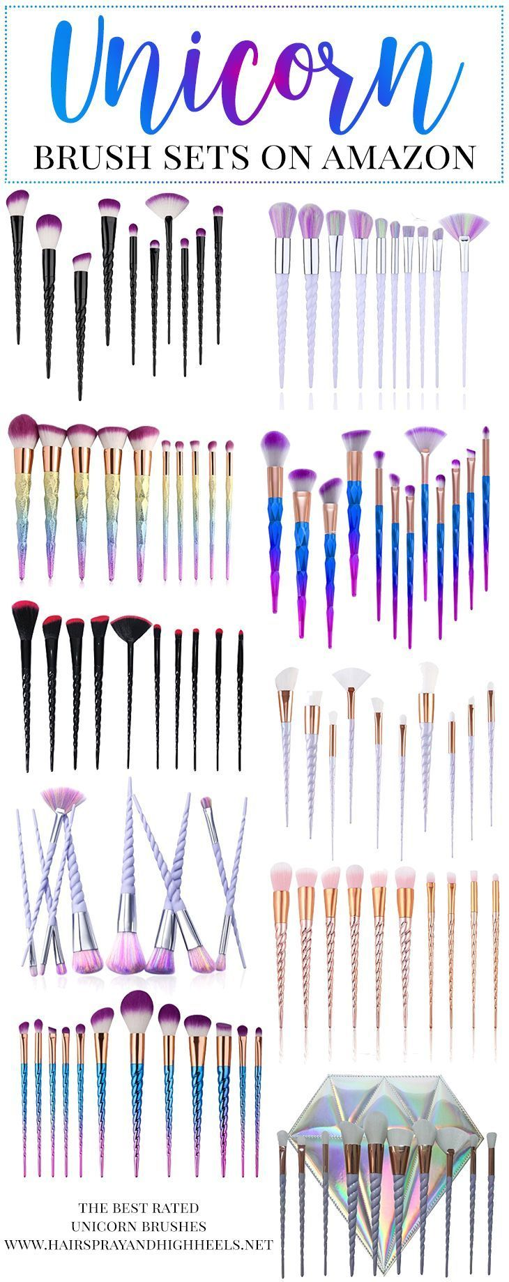 Hey YOU! Yes, YOU. LOOK at these fabulous UNICORN Makeup Brushes. You NEED them in your life!