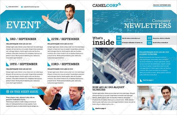 Company Newsletter Template Free Free Newsletter Templates - newsletter templates free for word