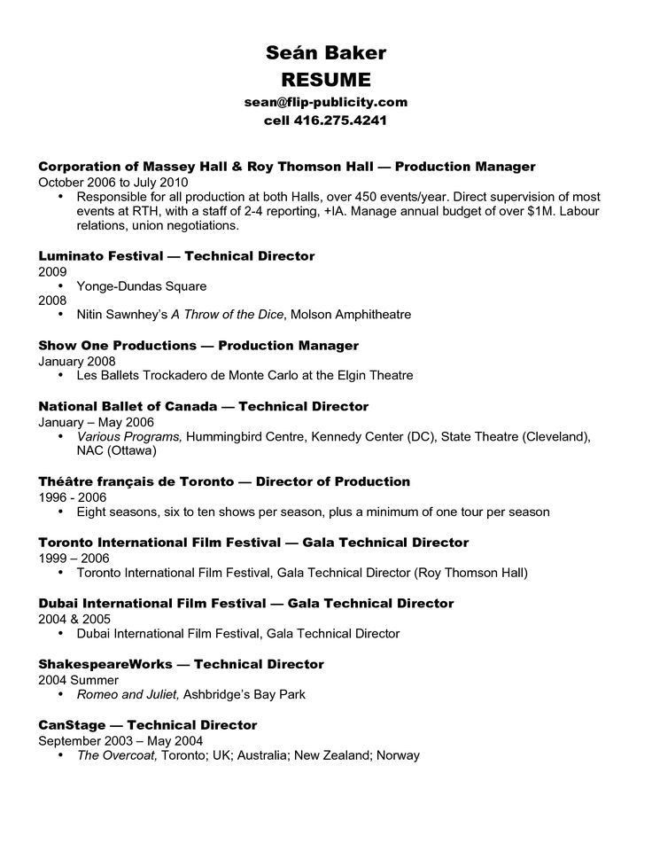 tv production manager resume resume cv cover letter