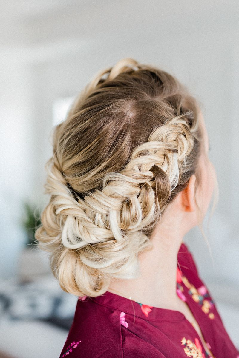 Fishtail Braided Updo Tutorial a step-by-step guide by www.twistmepretty.com #springhair #updoforspring #weddinghair