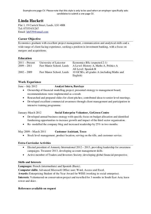 single page resume template one page resume templates free - Single Page Biodata Format