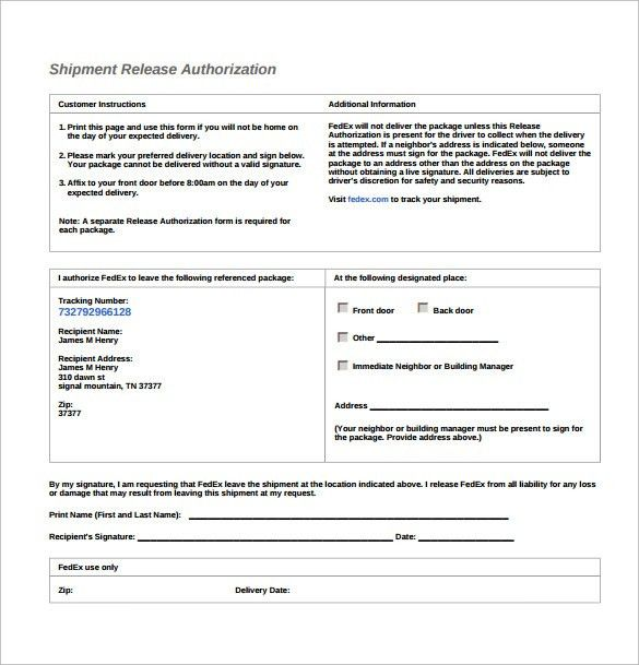 Shipment Release Authorization Form Barry Schwartzs Blog The - ups signature release form